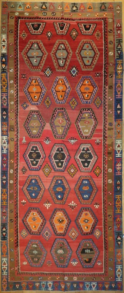 R8946 Antique Turkish Kilim Rugs