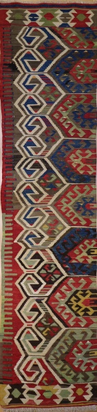 F1292 Antique Turkish Konya Kilim Runner