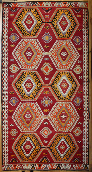 R8194 Antique Turkish Mut Kilim Rugs