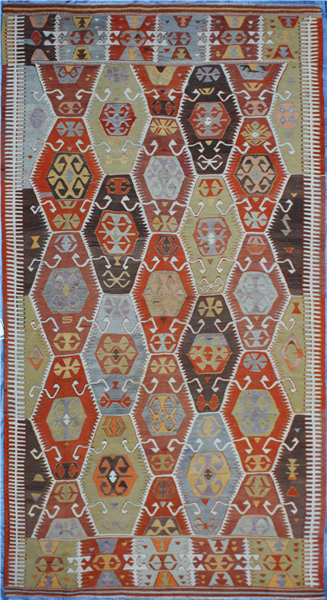 R7092 Turkish Barak Kilim Rug