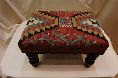 R7018 Beautiful Antique Kilim Footstools
