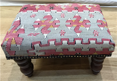 Beautiful Antique Kilim Footstools R7019