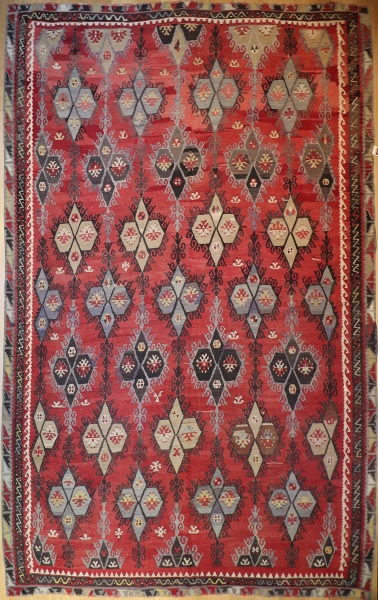 R8164 Beautiful Antique Large Turkish Kilim Rugs