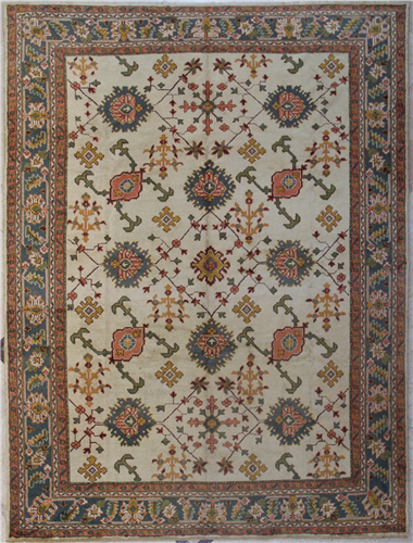 R7677 Beautiful Decorative Antique Turkish Ushak Carpet