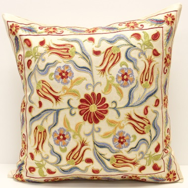 C17 Beautiful Silk Suzani Pillow Cover