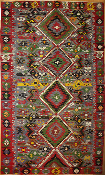 Beautiful Turkish Kula Kilim Rug R8027