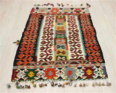 R8939 Beautiful Vintage Turkish Kilim Rugs