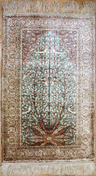 R8319 Gorgeous Turkish Silk Rug