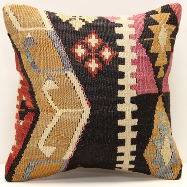 S221 Hand Woven Turkish Kilim Cushion Cover