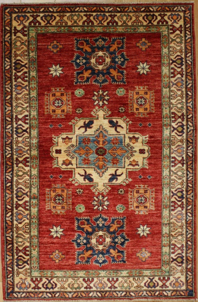 R8836 Handmade Transitional Kazak Rugs