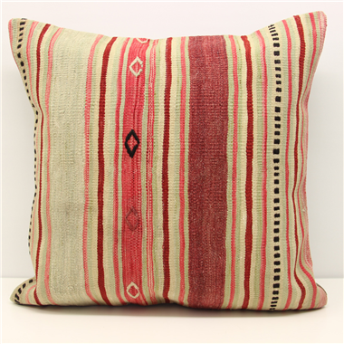 Large Red Striped Kilim Cushion Cover (60cm x 60cm) XL71