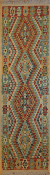 R9258 New Afghan Kilim Runners