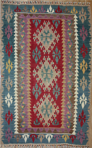 R8242 New Turkish Kilim Rug