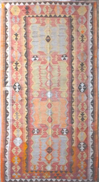 R6815 Antique Turkish Obruk Kilim