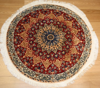 R8604 Persian round Silk and wool Nain Rugs