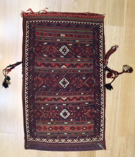 R9024 Persian Shahsavan Kilim Floor Cushion Covers