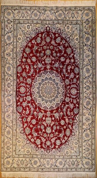 R9029 Persian Silk and wool Nain Carpets