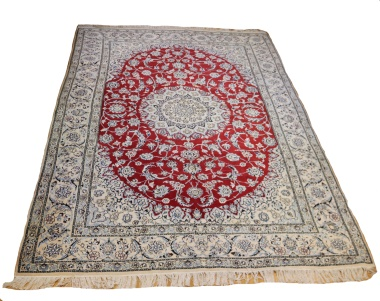 Persian Silk and wool Nain Carpets R9029