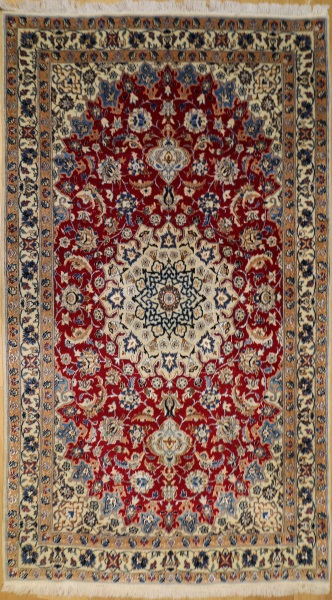 R8468 Persian Silk and wool Nain Rugs