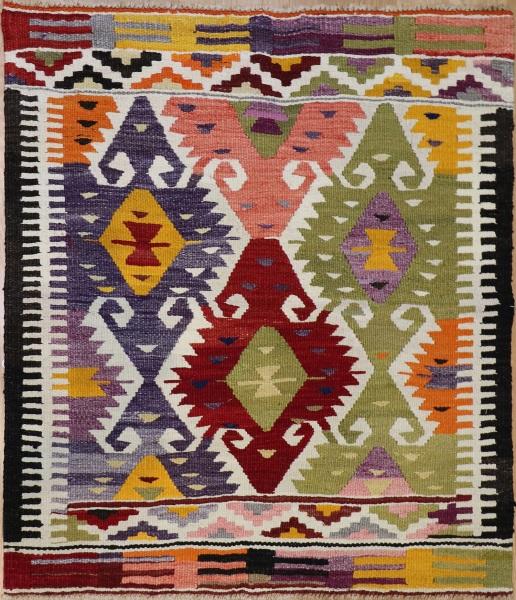 Rug Vintage Turkish Antalya Kilim