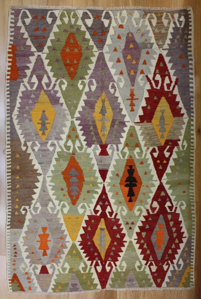 R8182 Rug Store Vintage Turkish Antalya Kilim Rugs