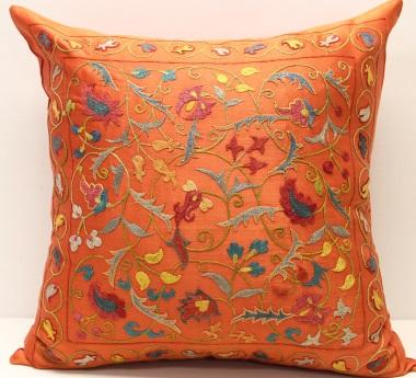 C7 Silk Suzani Cushion Cover