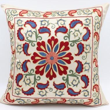 C10 Silk Suzani Cushion Cover