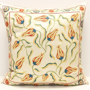 C14 Silk Suzani Cushion Cover