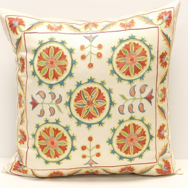 C23 Silk Suzani Cushion Cover