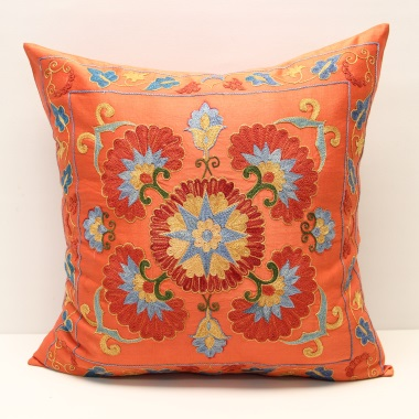 C30 Silk Suzani Cushion Cover