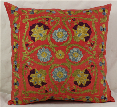 Silk Suzani Pillow Covers made from