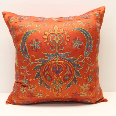 C48 Silk Suzani Cushion Cover