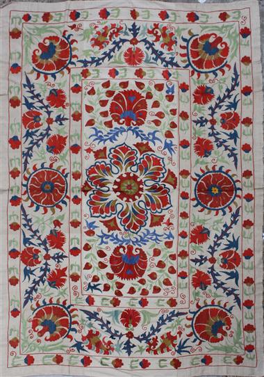 R4888 Silk Suzani Embroidery