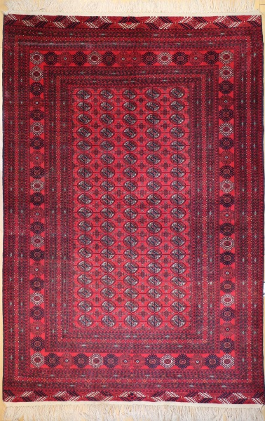R8437 Traditional Pakistan Bokhara Carpet