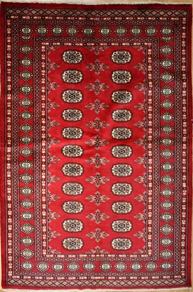 R8637 Traditional Pakistan Bokhara Rug
