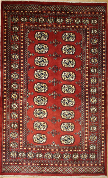 R8639 Traditional Pakistan Bokhara Rug