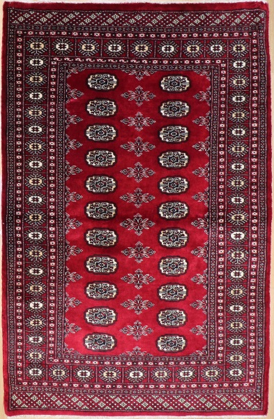 R8640 Traditional Pakistan Bokhara Rug