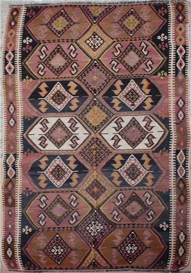 F79 Turkish Akcadag Kilim Rug