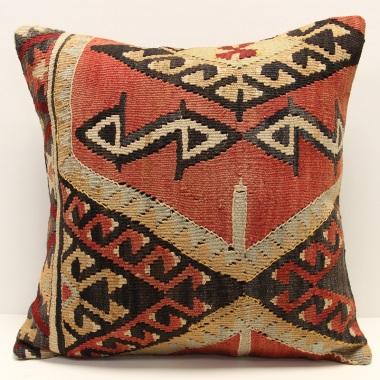 L690 Turkish Anatolian Kilim Cushion Cover