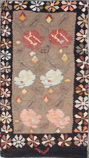 R5617 Turkish Kilim Floor Cushion Cover