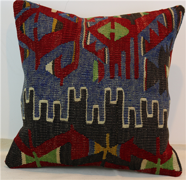 M322 Turkish Kilim Pillow Cover