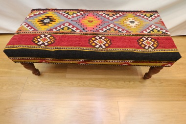 R4015 Turkish Large Bench Kilim Stool