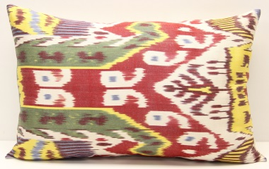 i43 Uzbek Ikat Cushion Cover