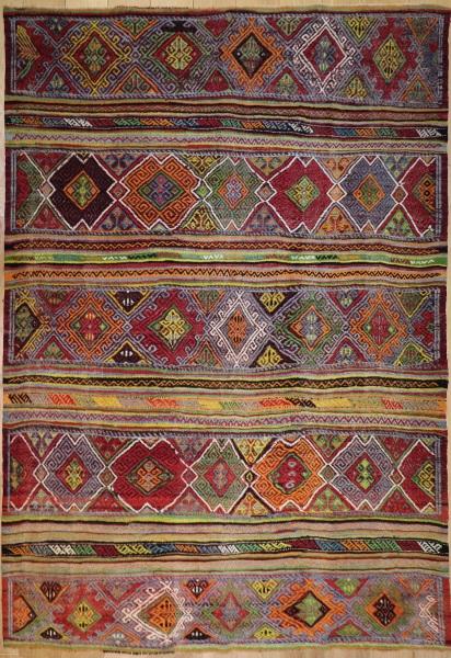 R2898 Village Turkish Cicim Kilim Rugs