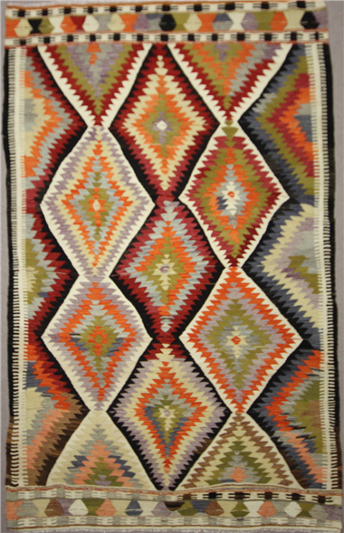 Vintage Antalya Kilim Rug R7886