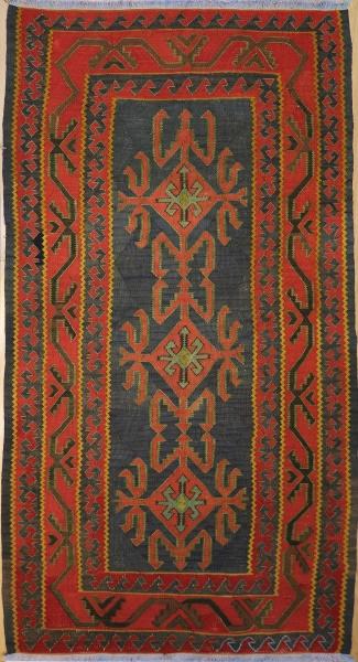F309 Vintage Caucasian Kazak Kilim Rug