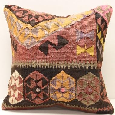 M279 Vintage Hand Woven Turkish Kilim Cushion Cover