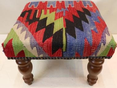 R7008 Vintage Kilim Footstools