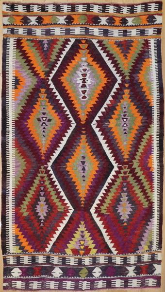 R8738 Vintage Kilim Rug