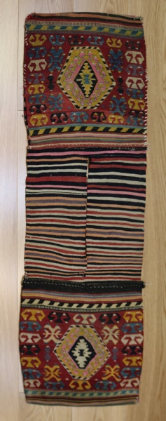R9025 Vintage Kilim Rug Saddle Bags